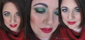 Christmas Makeup by Cinnamoncandy