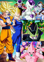 Poster Dragon Ball Z Sagas by Dony910