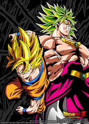 Poster Goku VS Broly by Dony910