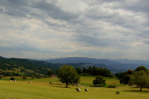 Green Hills, Blue Mountains 3 by Gwenmarch
