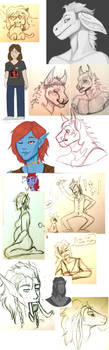 SKETCHES, WIPS AND DOODLES! by Kammax
