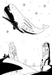 Inktober2018 Day12 -Whale- by samejimachich