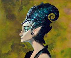 Fantasy cartoon portrait study by APetruk