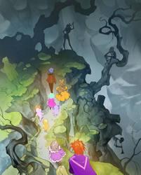 Orange Princess meets zombie girl by APetruk