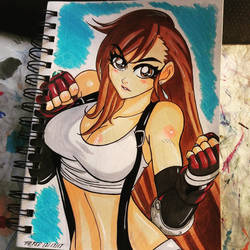 Tifa Ready for Battle by the-kid36
