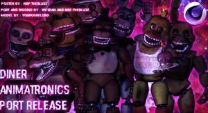 Diner Animatronics Pack C4D Download by we1dan