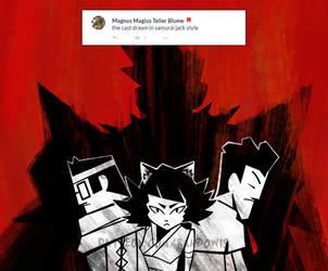 Weekly Doodles - Samurai Jack-ified MMO by RandoWis