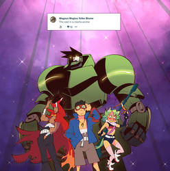 Weekly Doodles - Mecha Anime by RandoWis