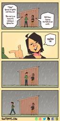 The Rain Is Heavy.. by RandoWis