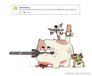 Weekly Doodles - Great Grey Puss by RandoWis