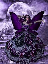 purple dark fae by virgiangie