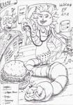 InkArt #11: Vorgabenrunde - Too much Burgers! by blue-hugo