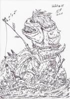 InkArt #15: Heut' gib's Fisch...yammy! by blue-hugo