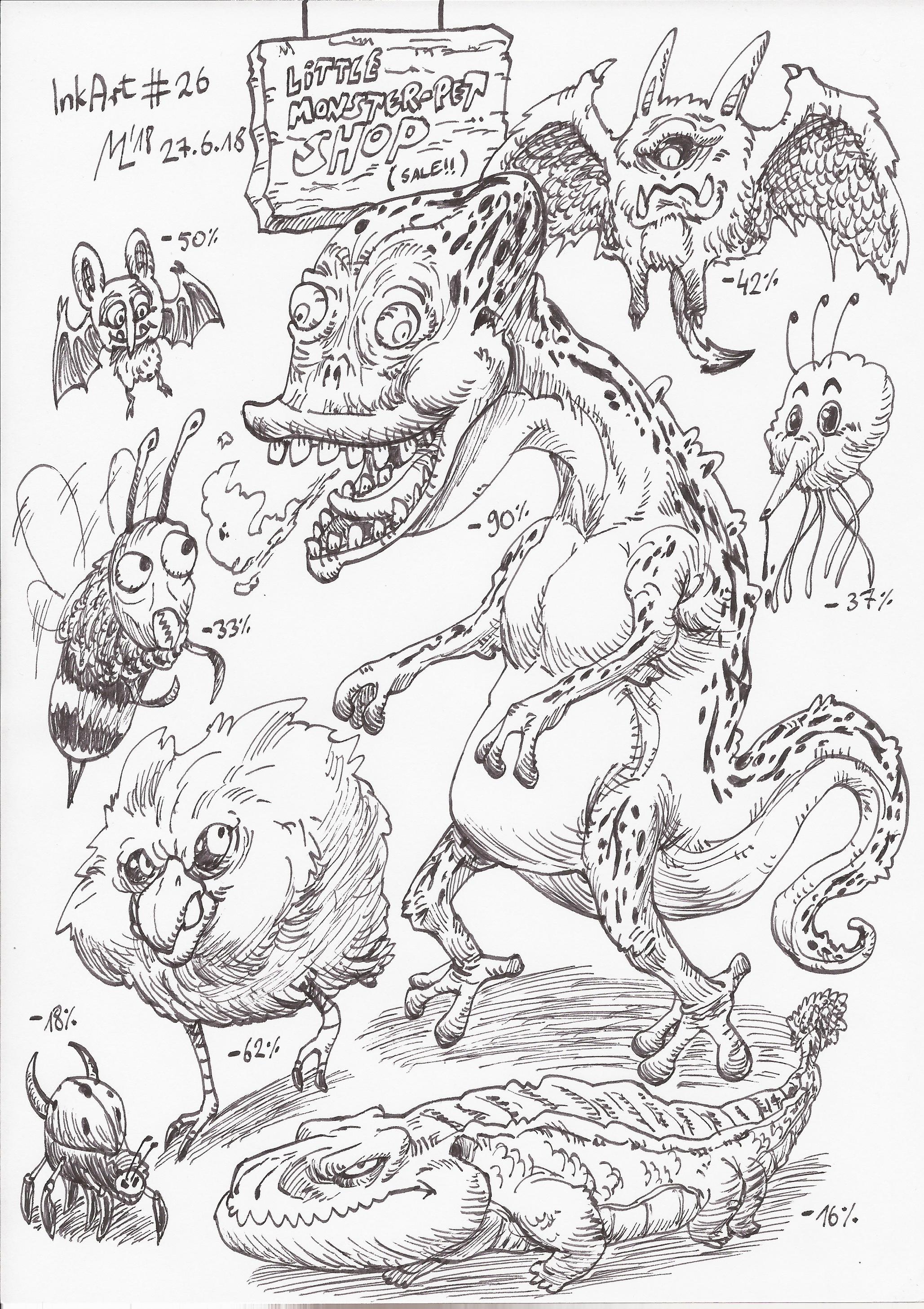 InkArt #26: Monster-Sale!! by blue-hugo