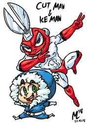 Cut Man und Ice Man| FreeArt #84 by blue-hugo