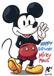 Happy Birthday Mickey! by blue-hugo