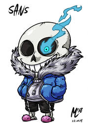 Sans| FreeArt #88 by blue-hugo