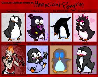 Homocidal Penguin Meme by ZoeStanleyArts