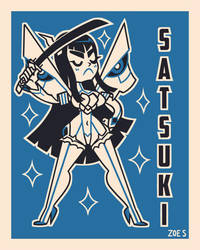 Retro Satsuki by ZoeStanleyArts