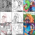 Pokemon Switcharound Collab by ZoeStanleyArts