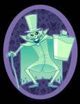 Hatbox Ghost by ZoeStanleyArts