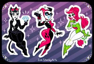 Gotham Sirens by ZoeStanleyArts