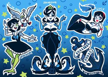 Gullible Gulls Sticker Sheet by ZoeStanleyArts