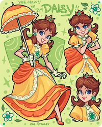 Princess Daisy by ZoeStanleyArts