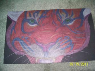 Metalic Tiger by PsycoEmoRainbow