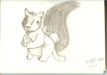 Squirrel by PsycoEmoRainbow