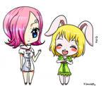 reiju and carrot chibi by Samanta95