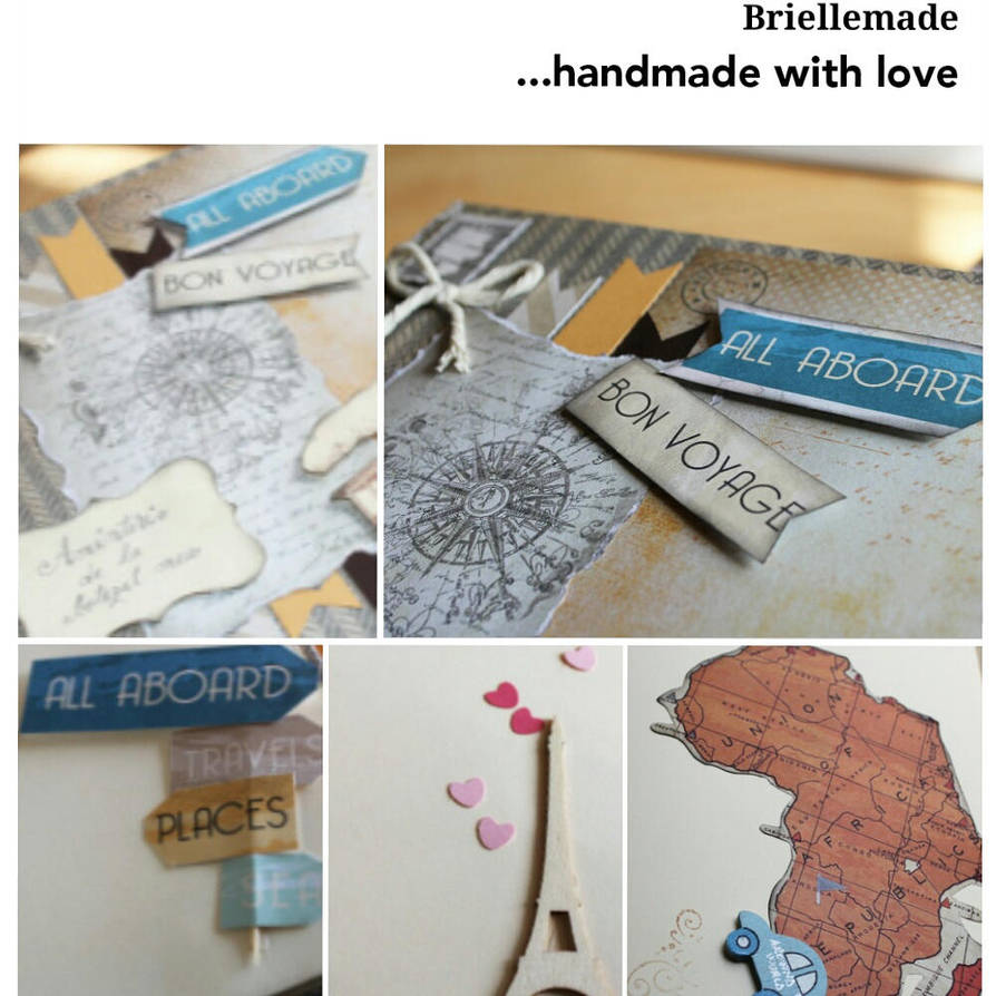 Travel album handmade by briellemade