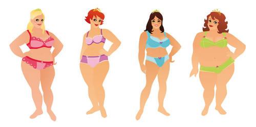 Ladies in underwear by MissMatzenbatzen