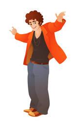 guy with orange jacket by MissMatzenbatzen