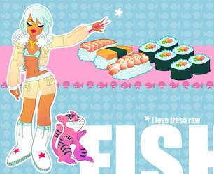I love Sushi by MissMatzenbatzen
