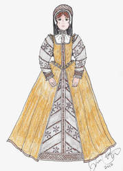 Lady Pierrepont's Gold Dress by LadyJamie