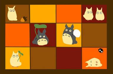 Totoro Baby Blanket Design by LadyJamie
