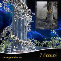 7 Scenic backgrounds, by Morganahope (exclusive) by FantasiesRealmMarket