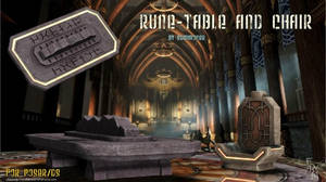 Rune Table and chair, by Summoner (free) by FantasiesRealmMarket