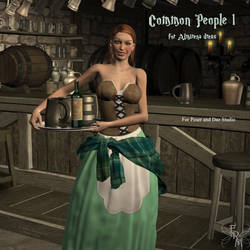 Common People 1 for Almirena Dress, by Aelin (exc) by FantasiesRealmMarket