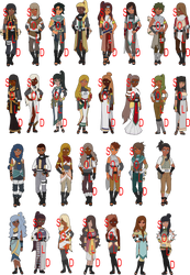Egyptian Gods Themed Naruto Adopts - 8 LEFT by mistressmaxwell
