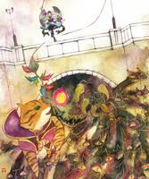 Mononoke: Nyanko river by muttiy