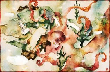 Mononoke: Octopus by muttiy