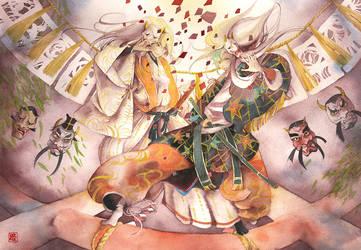 Toukenranbu: Onikagura by muttiy