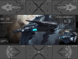Charybde Class Destroyer by bitonicus