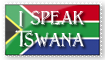 I Speak Tswana Stamp by MagnaAngel
