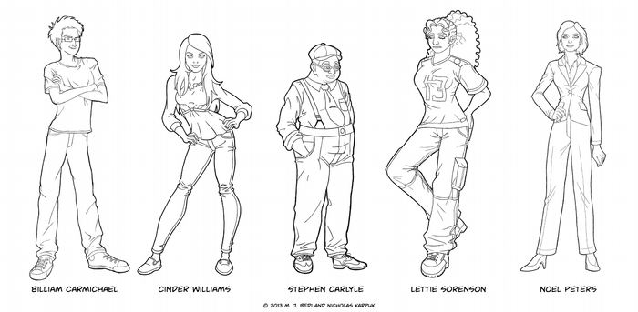 The Summer Job character concepts by MJBedi