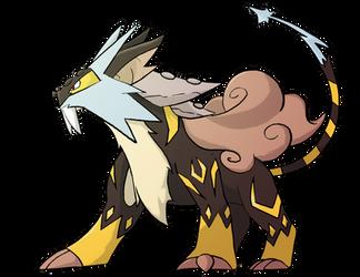 Mega Raikou by rey-menn