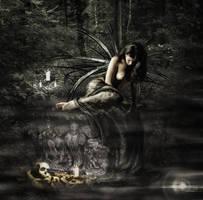 Fallen angel by Arwenlindorie