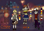 {3/4 OPEN} Circus Themed Adoptables Set Price by forestfairy33